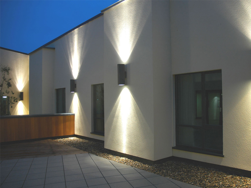 Led wall uplighter downlighter ireland by veelite for Exterior up and down lights led