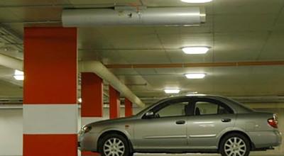 Basement car park lights
