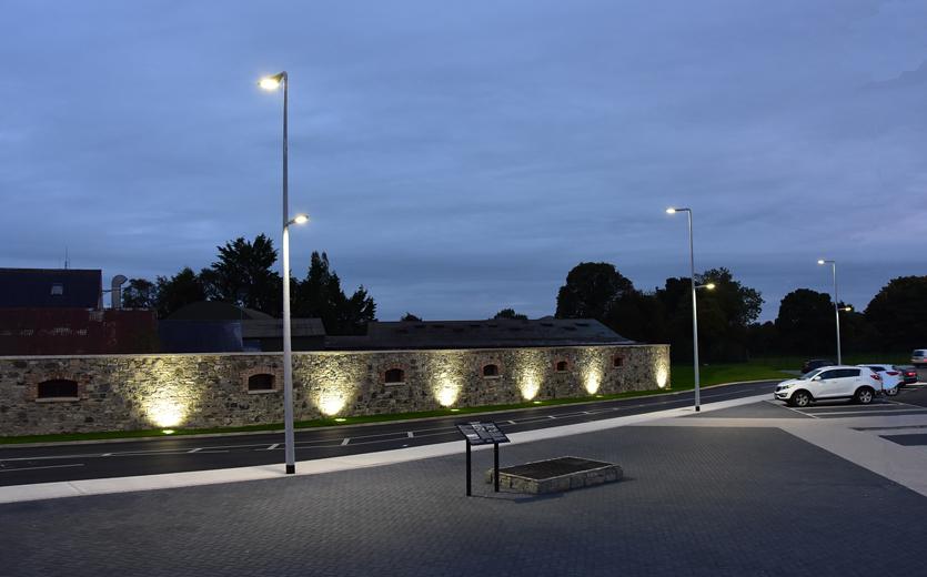 Plaza Area Lighting at Night time