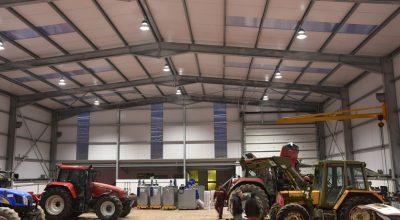 LED HighBays in Workshop