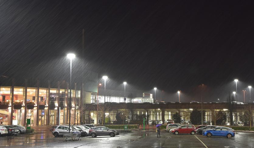 LED Lights Nightime in Rain