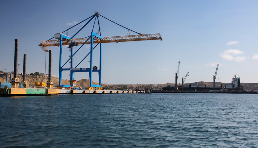 Container Cranes at South American Port