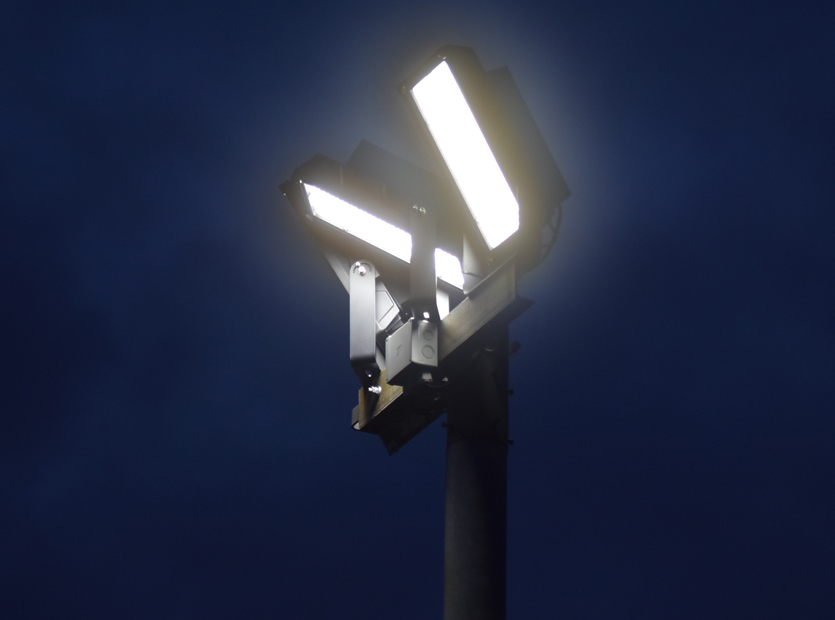 CloseUp Photo of LED Floodlights switched on