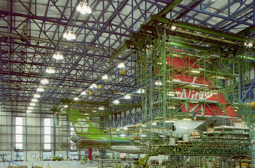 Aircraft Hangar Lighting Ireland By Veelite